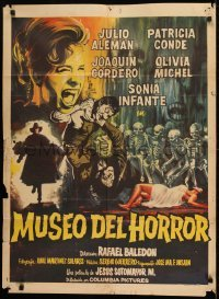 1x076 MUSEO DEL HORROR Mexican poster 1964 Rafael Baledon's Museum of Horror, great art!