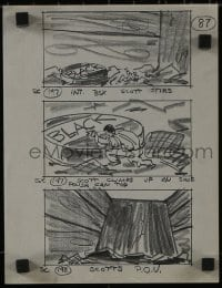 1x027 INCREDIBLE SHRINKING MAN 8x11 storyboard & 30x42 blueprint 1957 scene sketches + set design!