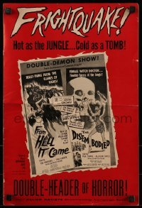 1x048 FROM HELL IT CAME/DISEMBODIED pressbook 1957 horror hot as the JUNGLE, cold as a TOMB!