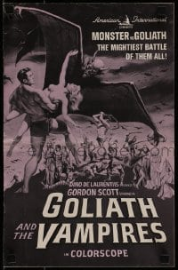 1x050 GOLIATH & THE VAMPIRES pressbook 1964 Gordon Scott saves kidnapped women from an evil zombie!