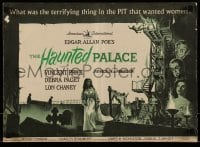 1x051 HAUNTED PALACE pressbook 1963 Vincent Price, Lon Chaney, Edgar Allan Poe, cool horror art!