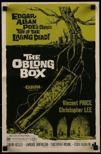 1x053 OBLONG BOX pressbook 1969 Vincent Price, Edgar Allan Poe's tale of living dead, cool art!