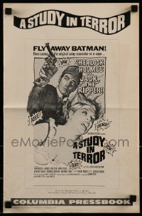 1x056 STUDY IN TERROR pressbook 1966 Neville as Sherlock Holmes, the original caped crusader!