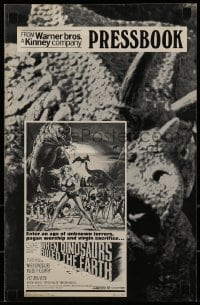 1x060 WHEN DINOSAURS RULED THE EARTH domestic pressbook 1971 pagan worship & virgin sacrifices!