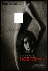 1y111 HOSTEL PART II int'l teaser DS 1sh 2007 Bijou Philips holding decapitated head, ultra rare!