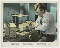 2a028 4D MAN color 8x10 still 1959 great close up of Robert Lansing working in his laboratory!