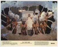 2a030 ALL THAT JAZZ color 8x10 still #3 1979 Roy Scheider in hospital bed surrounded by showgirls!