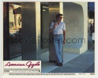 2a031 AMERICAN GIGOLO 8x10 mini LC #1 1980 male prostitute Richard Gere full-length by door!