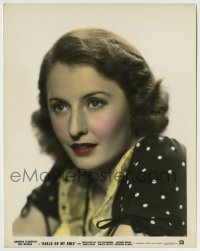 2a032 BANJO ON MY KNEE color 8x10 still 1936 great close portrait of beautiful Barbara Stanwyck!