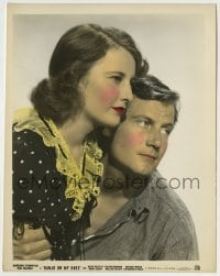 2a033 BANJO ON MY KNEE color 8x10.25 still 1936 great portrait of Joel McCrea & Barbara Stanwyck!