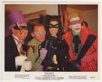 2a035 BATMAN color 8x10 still 1966 Penguin Meredith, Riddler Gorshin, Catwoman Meriwether & Joker!