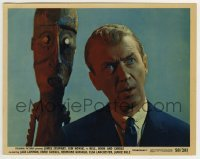 2a036 BELL, BOOK & CANDLE color 8x10 still 1958 best c/u of hexed New York publisher James Stewart!