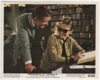 2a043 BREAKFAST AT TIFFANY'S color 8x10 still 1961 Peppard laughs with Audrey Hepburn in library!