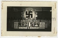 2a001 CONFESSIONS OF A NAZI SPY 3.5x5.25 photo 1939 the swastika sign of terror invades America!