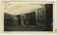 2a007 CRIME SCHOOL 2.75x4.5 photo 1938 theater display with bars over 1-sheets & stone walls!