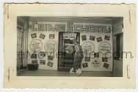 2a008 CRIME SCHOOL 3.5x5.25 photo 1938 see teachers with clubs & whips, classrooms w/barbed wire!