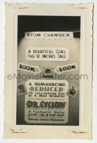 2a009 DOCTOR CYCLOPS 3.5x5.25 photo 1940 you looked in an atom chamber at a 12 inch beautiful girl!