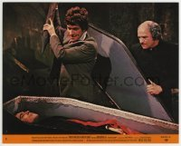2a051 DRACULA HAS RISEN FROM THE GRAVE 8x10 mini LC #1 1969 Barry Andrews staking Christopher Lee!