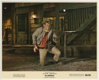 2a055 EL DORADO color 8x10 still 1966 close up of John Wayne kneeling in street with gun drawn!