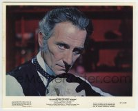 2a060 FRANKENSTEIN CREATED WOMAN color 8x10 still 1967 best c/u of Peter Cushing holding skull!