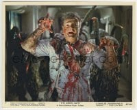 2a063 GREEN SLIME color 8x10 still #1 1968 gruesome image of Ted Gunther mangled by the aliens!