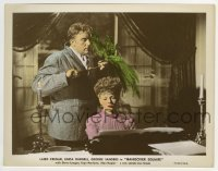 2a064 HANGOVER SQUARE color 8x10.25 still 1945 c/u of Laird Cregar about to strangle Faye Marlowe!