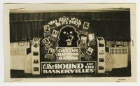 2a012 HOUND OF THE BASKERVILLES 2.75x4.5 photo 1939 display w/ mad dog, who next will be its prey!