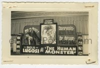 2a013 HUMAN MONSTER 3.5x5.25 photo 1939 Frankenstein was a sissy compared to him, theater display!