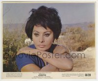 2a066 JUDITH 8x10 mini LC 1966 best portrait of beautiful Sophia Loren, directed by Daniel Mann!