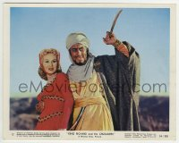 2a068 KING RICHARD & THE CRUSADERS color 8x10 still #12 1954 c/u of Rex Harrison & Virginia Mayo!
