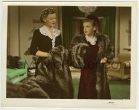 2a070 LIFE BEGINS FOR ANDY HARDY color-glos 8x10 still 1941 Judy Garland wearing wonderful fur coat!