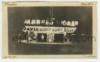 2a018 MARKED WOMAN 2.75x4.5 photo 1937 theater display w/blow-ups of Bette Davis & Humphrey Bogart!