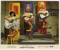 2a076 PROMISE HER ANYTHING color 8x9.75 still 1966 three near-naked girls playing fringed guitars!