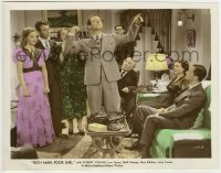 2a077 RICH MAN, POOR GIRL color 8x10.25 still 1938 Robert Young, Ayres, Hussey, Kibbee, Lana Turner