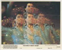 2a078 SATURDAY NIGHT FEVER 8x10 mini LC #7 1977 best montage image of disco dancer John Travolta!