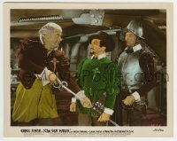 2a079 SEA HAWK color-glos 8x10.25 still 1940 guard watches Alan Hale take Claude Rains' sword!