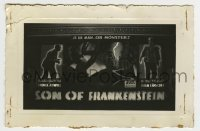 2a024 SON OF FRANKENSTEIN 3.5x5.25 photo 1939 is Boris Karloff man or monster, theater display!