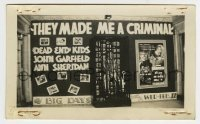 2a025 THEY MADE ME A CRIMINAL 2.75x4.5 photo 1939 display with Garfield mannequin in jail cell!