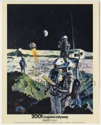 2a026 2001: A SPACE ODYSSEY Cinerama color English FOH LC 1968 McCall art of astronauts on moon!
