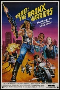 2f006 1990: THE BRONX WARRIORS 1sh 1983 Vic Morrow, Fred Williamson, completely different!