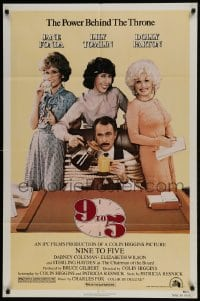 2f021 9 TO 5 1sh 1980 Dolly Parton, Jane Fonda & Lily Tomlin w/tied up Dabney Coleman!