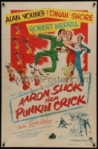 2f022 AARON SLICK FROM PUNKIN CRICK 1sh 1952 Alan Young, Dinah Shore, Robert Merrill, musical art!