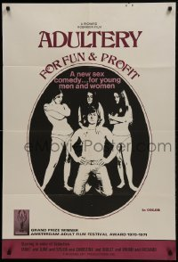 2f028 ADULTERY FOR FUN & PROFIT 1sh 1971 a new sex comedy for young men and women!