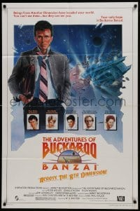2f029 ADVENTURES OF BUCKAROO BANZAI 1sh 1984 Peter Weller science fiction thriller, cool art!