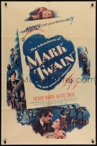 2f030 ADVENTURES OF MARK TWAIN style A 1sh 1944 Fredric March as Twain, the gol-darndest American!