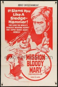 2f033 MISSION BLOODY MARY Canadian 1sh 1967 Sergio Grieco's Agente 077 missione Bloody Mary