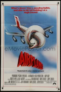 2f034 AIRPLANE 1sh 1980 classic zany parody by Jim Abrahams and David & Jerry Zucker!