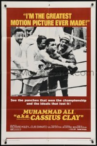 2f003 A.K.A. CASSIUS CLAY 1sh 1970 image of heavyweight champion boxer Muhammad Ali in the ring!