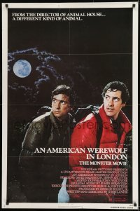 2f044 AMERICAN WEREWOLF IN LONDON 1sh 1981 David Naughton, Agutter, Dunne, John Landis!