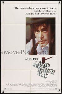 2f047 AND JUSTICE FOR ALL 1sh 1979 directed by Norman Jewison, Al Pacino is out of order!